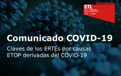 Claves de los ERTEs por causas ETOP derivadas del COVID-19